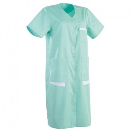 Blouse medicale longue verte manche courte promo conforts