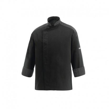 veste de cuisine rayures blanches