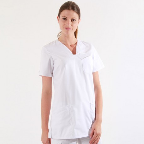blouse medicale blanche femme
