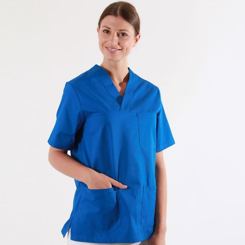 Tunique médicale bleue marine femme