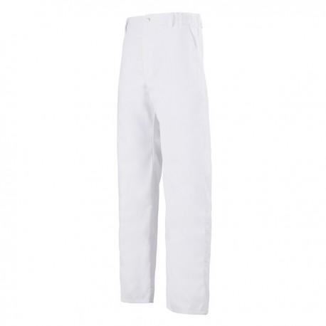 Pantalon de Cuisine Blanc 1 pli