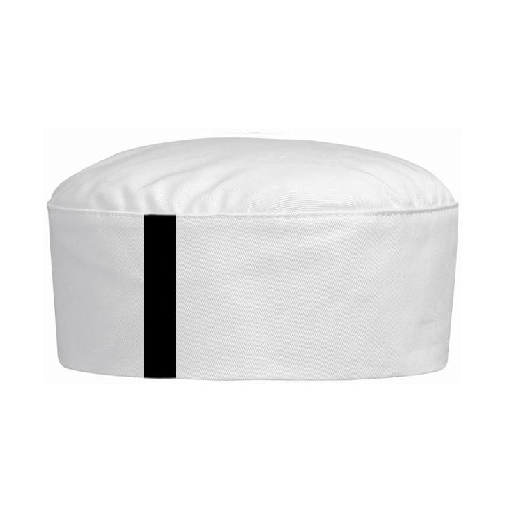 Cuffia bianco con bordo nero o blu