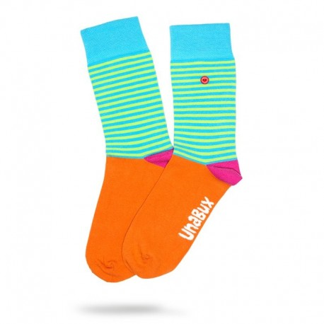 Chaussettes orange et verte - Lolly Unabux