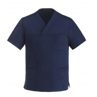 Casacca da medico Collo a V Blu marino mista