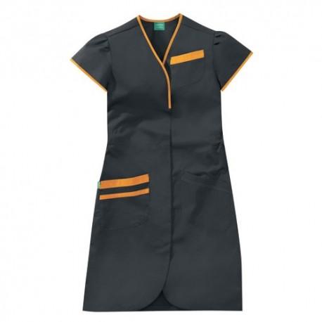 Blouse de Travail Noire Orange