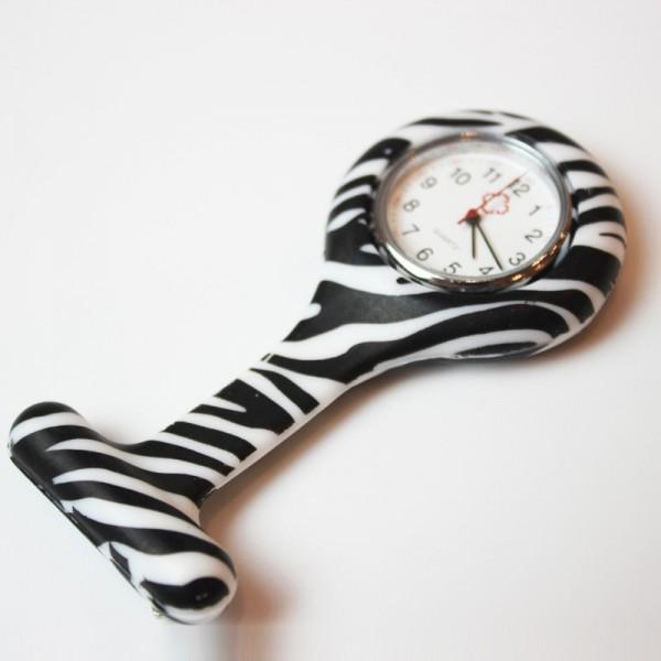 Orologio infermiera zebra