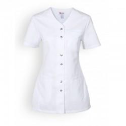 Blouse medicale blanche clinic dress pas cher manche courte femme