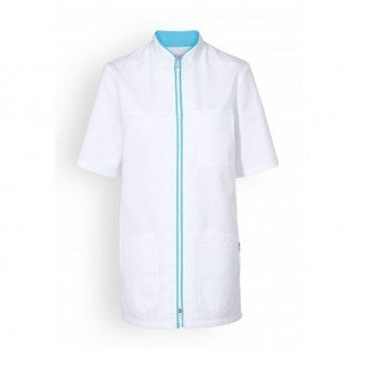 Casacca medica bianca a bordini - Clinic Dress