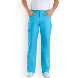 Pantalon medical bleu homme pas cher promotion infirmier aide soignant hopital