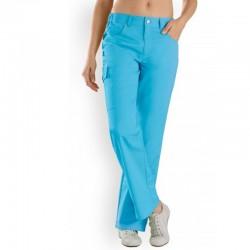 Pantalon medical bleu femme pas cher promotion infirmiere aide soignante hopital