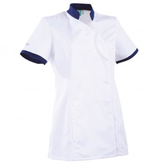 Camice Clemix sciancrato 2LIN bianco e blu