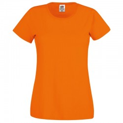 tee shirt femme orange