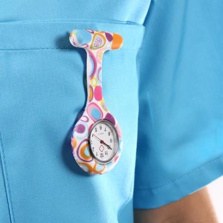 Orologio infermiera multicolore
