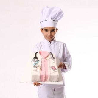 Veste de cuisine enfant blanche