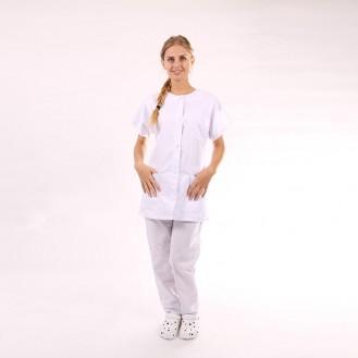 Blouse médicale femme blanche - Manelli