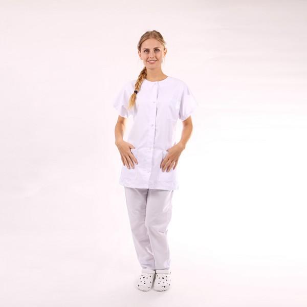 blouse medicale blanche. Black Bedroom Furniture Sets. Home Design Ideas