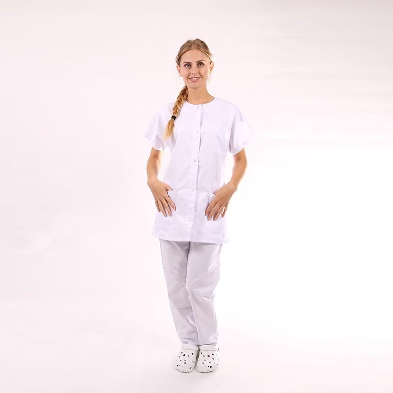 Blouse médicale femme blanche - Manelli manches courtes promo pas cher