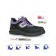 Basket de sécurité puma S2 SRC femme. Noir et violet. Semelle antichoc et antiperforation.