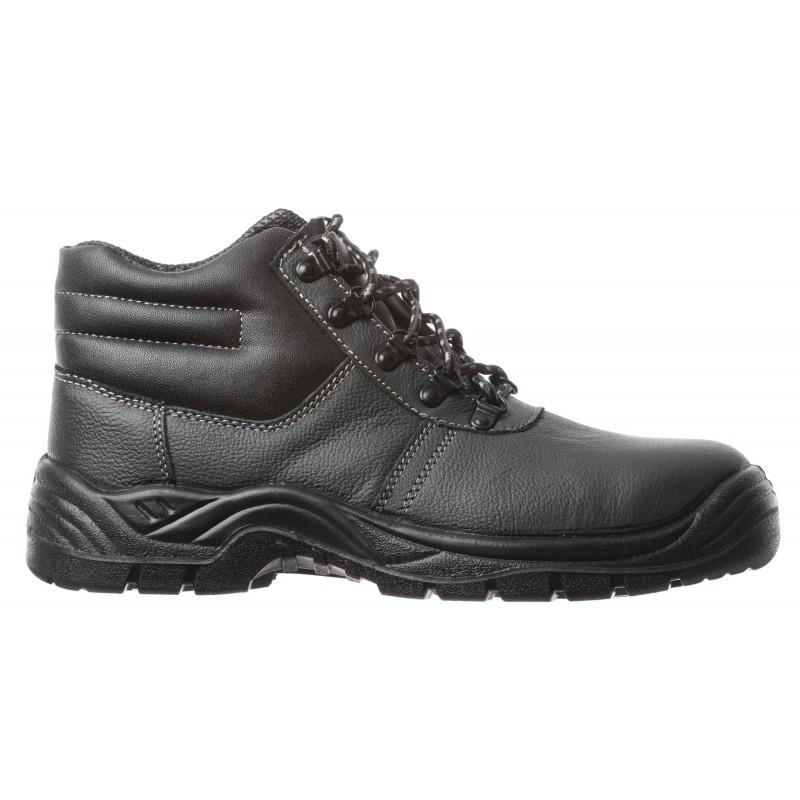 Chaussures de sécurité montantes noires S3. Noire, rapport qualité/prix imbattable. Parfait pour tous types de métiers.