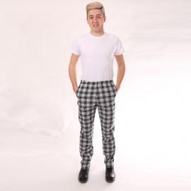 Pantalon de Cuisine Carreaux Noir hommes