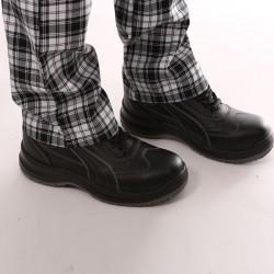 Pantalon de Cuisine Carreaux Noir homme
