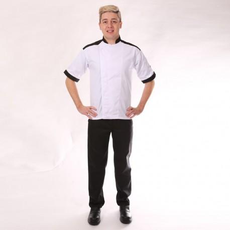 pantalon cuisine noir homme