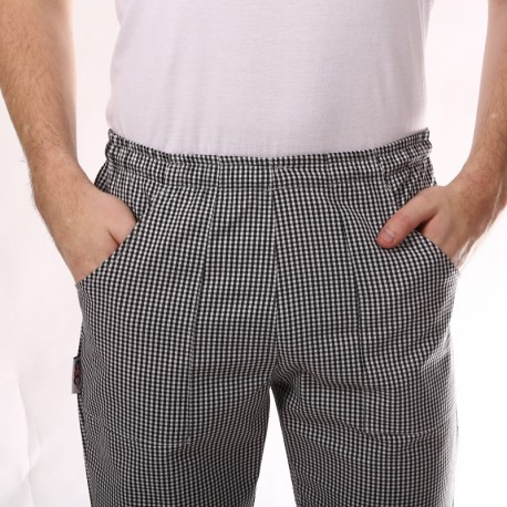 Pantalon de Cuisine Carreaux Noirs homme