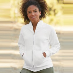 Veste femme zippée blanche