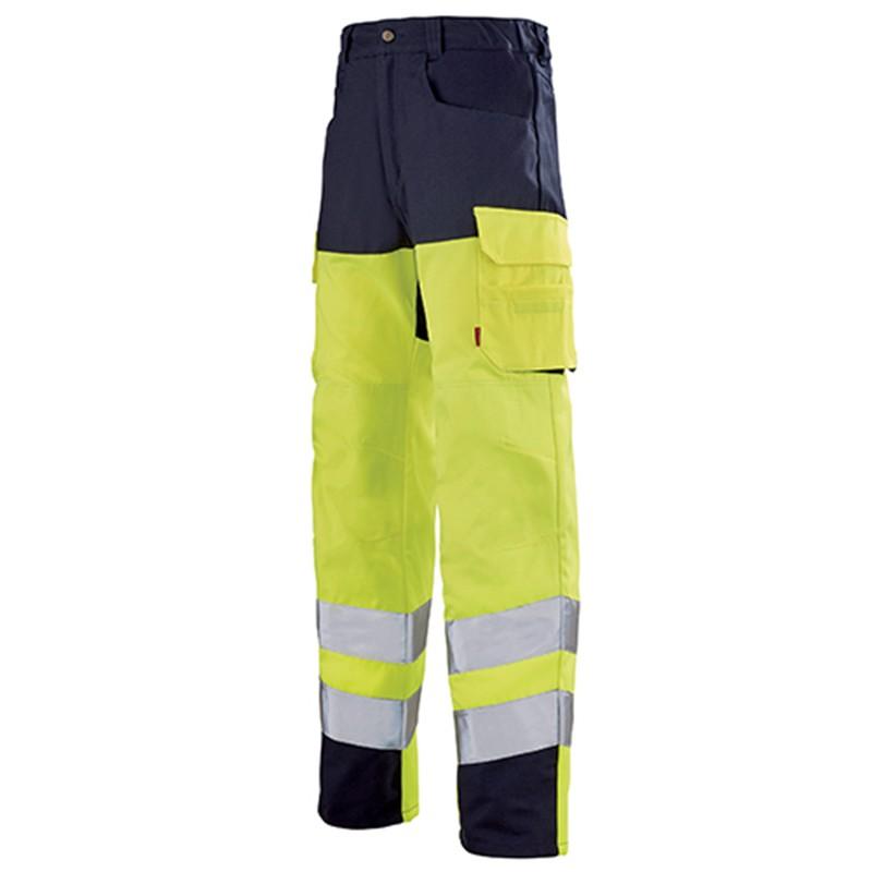 Pantalon de travail jaune fluo JAUNE HIVI/MARIN 1HVI77CP