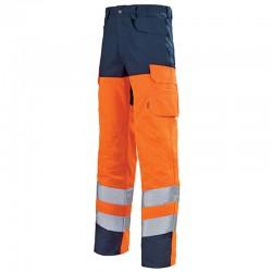 Pantalon de travail fluo ORANGE HIVI/MARIN bas prix