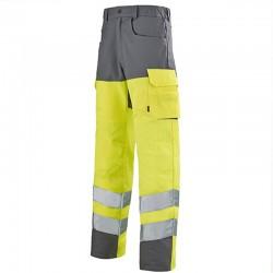 Pantalon de travail fluo haute visibilité JAUNE HIVI/ACIER promotion et petit prix