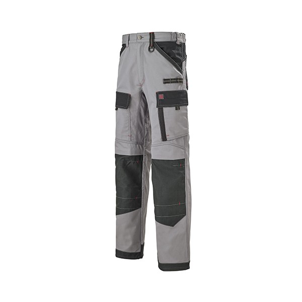 Pantalon Multipoches Protection Genoux Gris