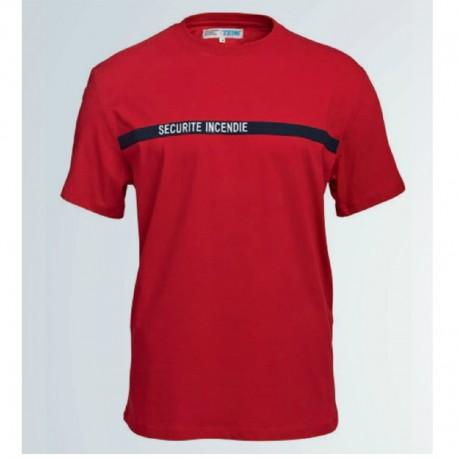 T-shirt sécurité incendie rouge