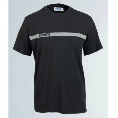 T-shirt sécurité incendie noir