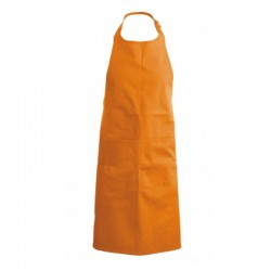 Tablier a bavette couleur orange