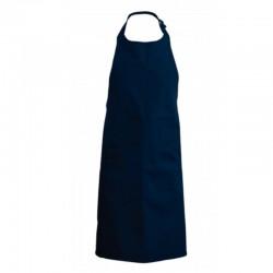 Tablier a bavette couleur bleu marine
