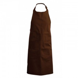 Tablier a bavette couleur marron