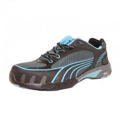 sale retailer e9813 f38e0 Baskets de sécurité femme Puma Fuse motion bleu S1 noire et bleu