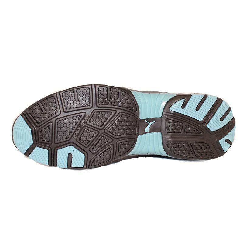 Baskets de sécurité femme Puma Fuse motion bleu S1 semelle résistante pour ne pas glisser
