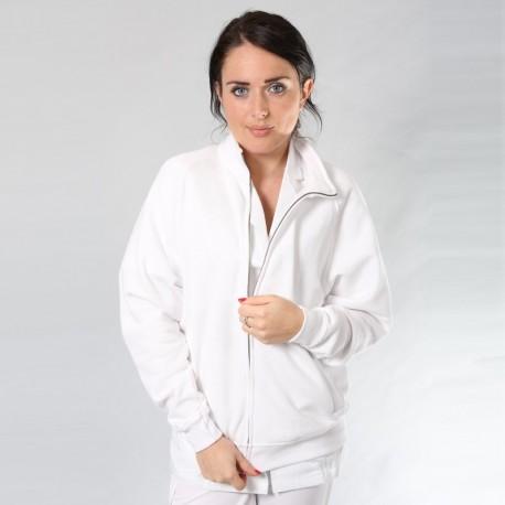 Veste femme zippée noire ou blanche