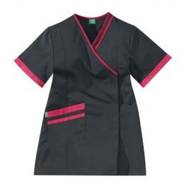 blouse esthéticienne noire et rose Lafont