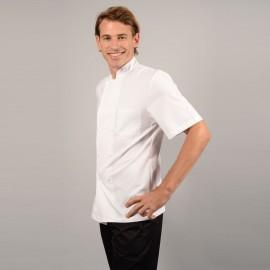 Veste de Cuisine Coton 100% Toile profil, bouton asymétrique hommes