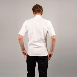 Veste de Cuisine Coton 100% Toile dos, coupe droite adaptable pour toutes morphologies pas cher
