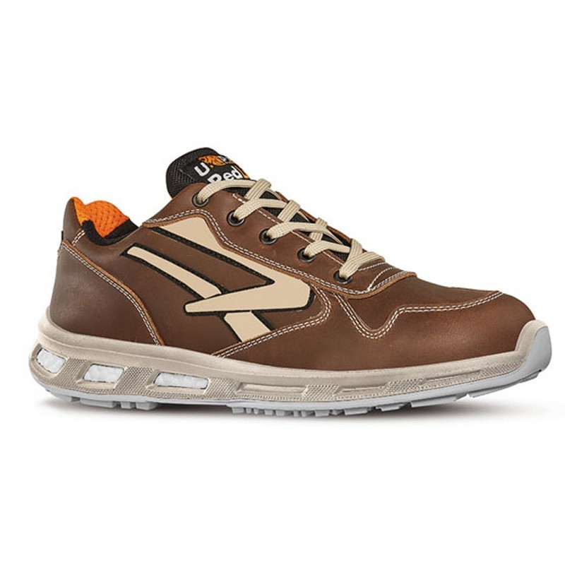 Chaussures de sécurité SPYKE S3 SRC. Marron avec pointe de beige. Gamme red Lion. Haute qualité.