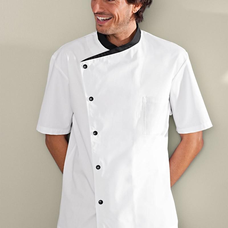Veste de cuisine blanche juliuso Bragard, manche courte, parfait pour l'été