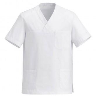 Tunique Medicale Blanc Col V
