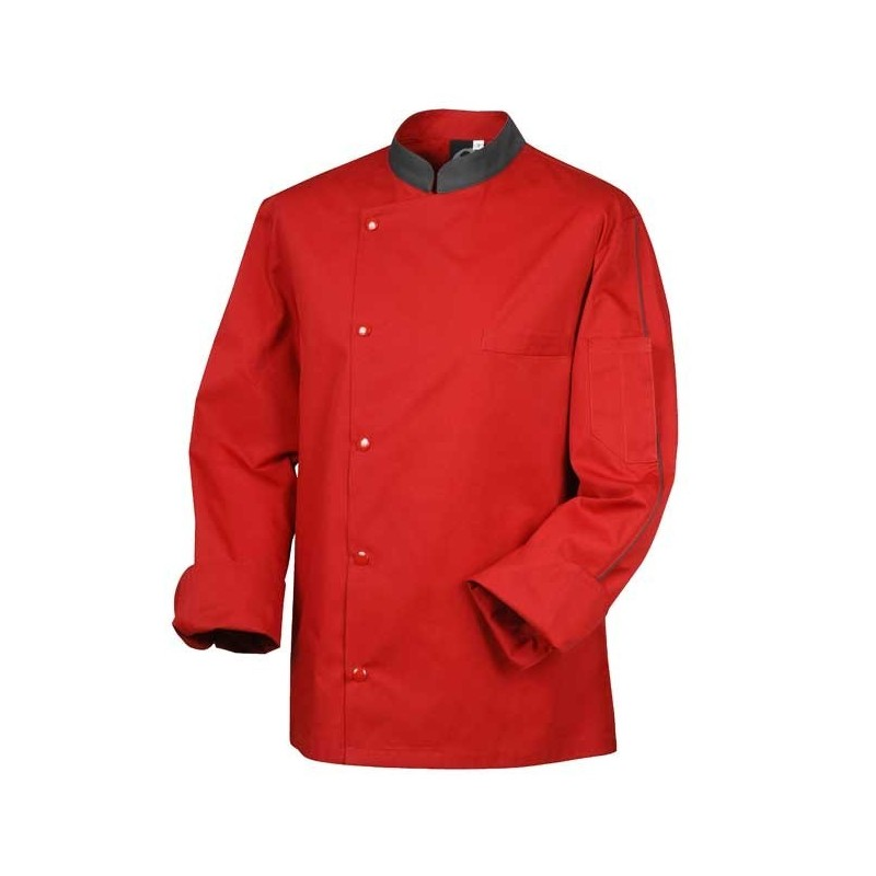 Veste de boucher rouge