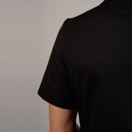 Tunique de Cuisine Confort Noir zoom, manches courtes pour période estivale