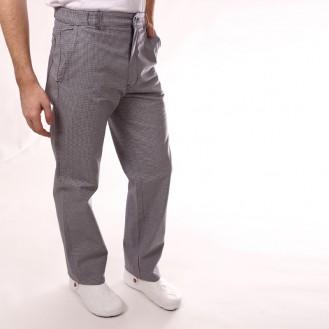 Pantalone da cucina pied de poule candeggiabile profilo