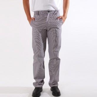 Pantalone da cucina pied de poule candeggiabile anteriore